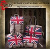 New design ladies laptop bag canvas and PU bag with UK flag