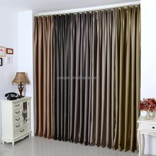 High quality 100% polyester 4 colors blackout cloth wood grain window curtains