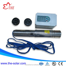 2hp DC AC hybrid power Submersible solar Water pump