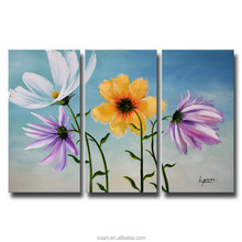 Colourful Daisies Flower Oil Painting Wall Pictures for Living Room