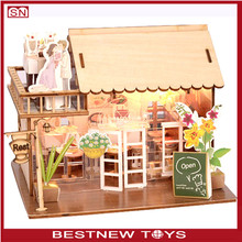 New fashion educational children wooden toy house play doll house