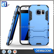Hot sale OEM/ODM shockproof TPU+PC hybrid armor with stand case for samsung galaxy s6 edge case