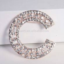 Korean CC brooches pins for women fancy rhinestone luxury crystal fashion brooch