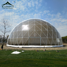 China Product 50m Large Events Geodesic Dome Tent Warehouse For Sale