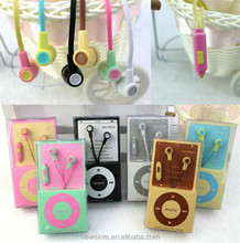 factory wholesale fashional universal colorful in-ear noodle flat wire earphones with mic for iphone MP3/MP4/laptop