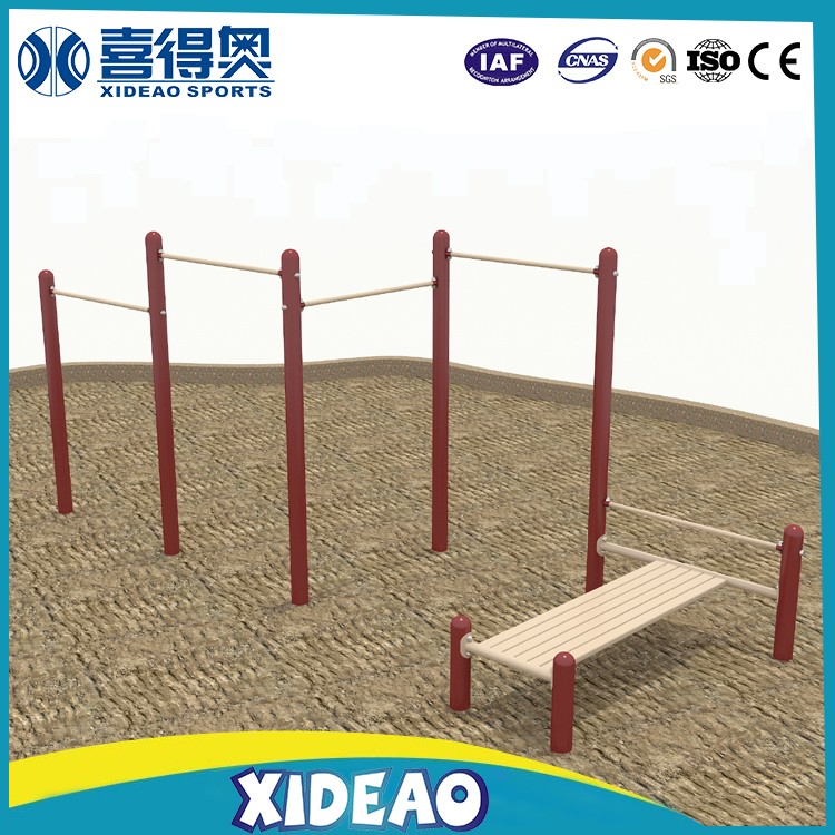 Outdoor fitness equipment spare parts parallel dip bars for elderly