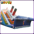 7.5m Hight Inflatable Bounce Slide Tobogan Tank Slide Dry Inflatable Adult Titanic Slide