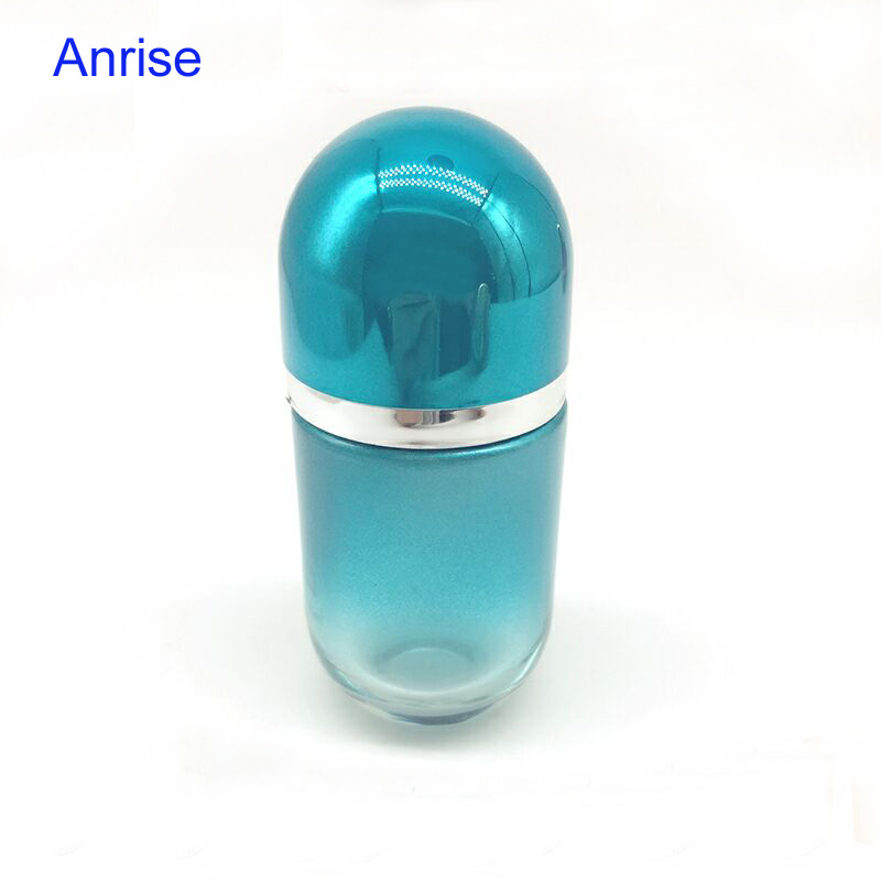 Anrise 50ml Colored Cyclinder Glass Perfume Bottle Popular Designs Scent Diffuser Pump Spray Bottle with Matching Magnetic Cap