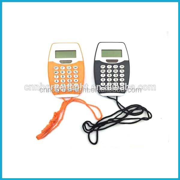 Pocket Calculator with 8 Digits and Rope