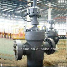 WELLHEAD API 6A EXPANDING GATE VALVE,GATE VALVES GEAR OPERATED