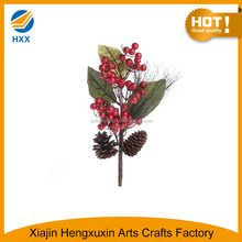 winter holly berry with leaves pick for decor