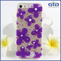 [NP-1716] Pearl Flower TPU Phone Accessories for iPhone 5G 5S 5C Cases