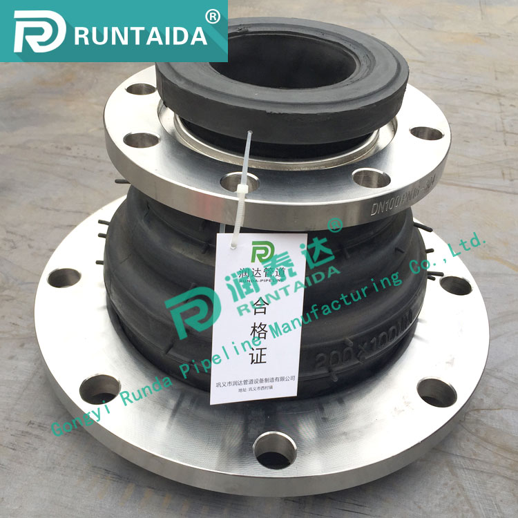 JIS carbon steel flanged flexible EPDM jdx reduced rubber joint