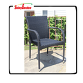 Outdoor Multibrown PE Wicker Dining Chairs