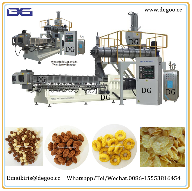 Made in China supplier Jinan DG hot corn flakes breakfast cereal snack making machine manufacturer with high quality