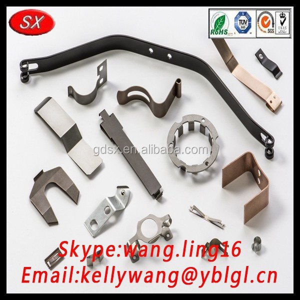 Alibaba trade insurance golden supplier anodized steel flat spring clip for industry made in China