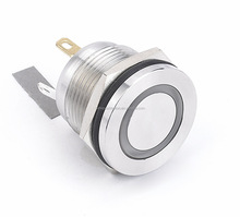 HBAN brand momentary industrial Ring illuminated 19mm LED metal push button switch