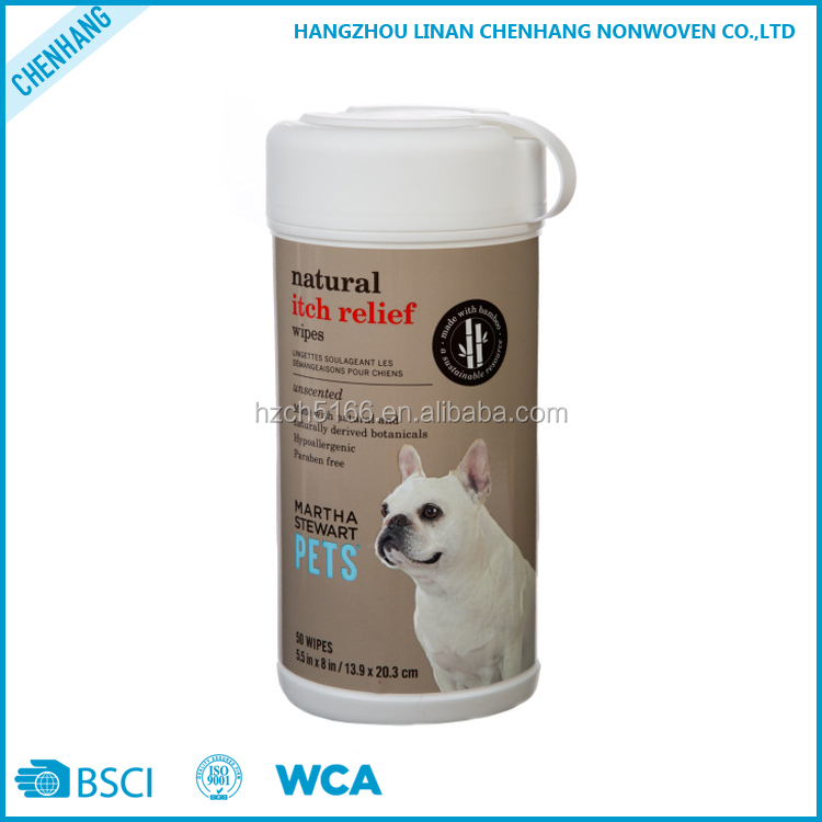 OEM Service Antibacterial Multi-purpose Nonwoven Spunlace Pet Cleaning Wet Wipes