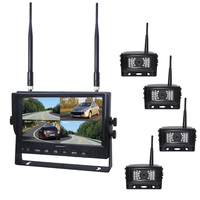 7inch 2.4G Wireless Reversing Around View Monitor System With Mirror and Normal Adjust and DVR Function