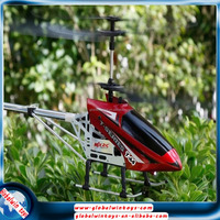 Top grade rc helicopter with long battery life 3.7v 1200mah alloy aircraft model double blades RTF gyro copter in middle size