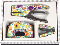 Wholesale Fancy design floral office stationery gift set