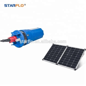 STARFLO 360LPH low cost solar water pumping system submersible borehole pumps 12 volt deep well water pump