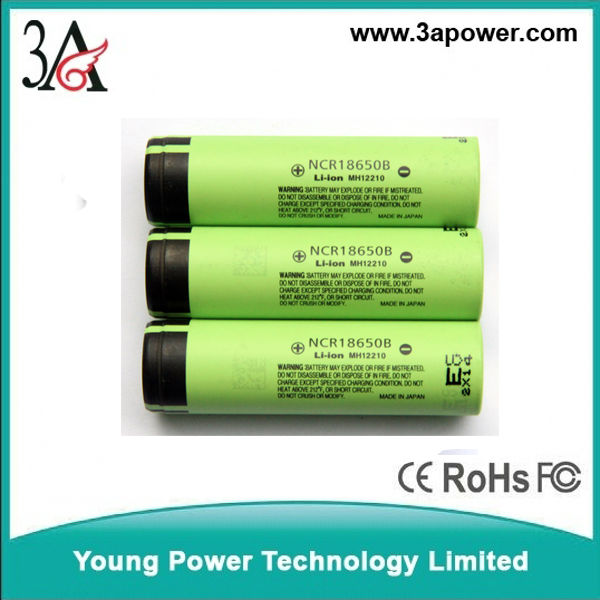 lithium battery cells li-ion battery cells NCR 18650 b 3400MAH 3.7v