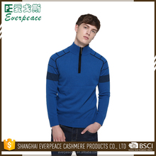 latest mandarin collar 1/4 zip sports pullover sweater designs for men