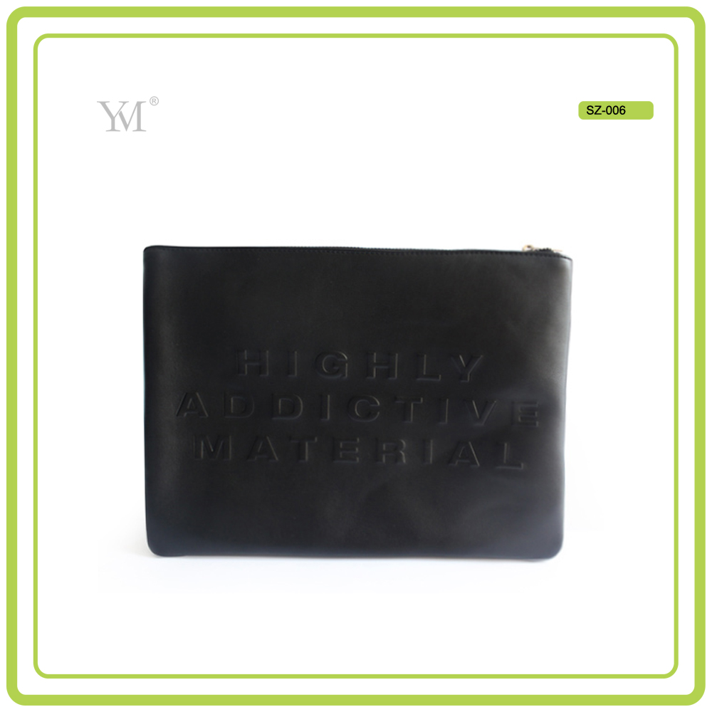 embossed leather pu OEM factory direct wholesale low price waterproof elegant custom pouch bag women clutch bag