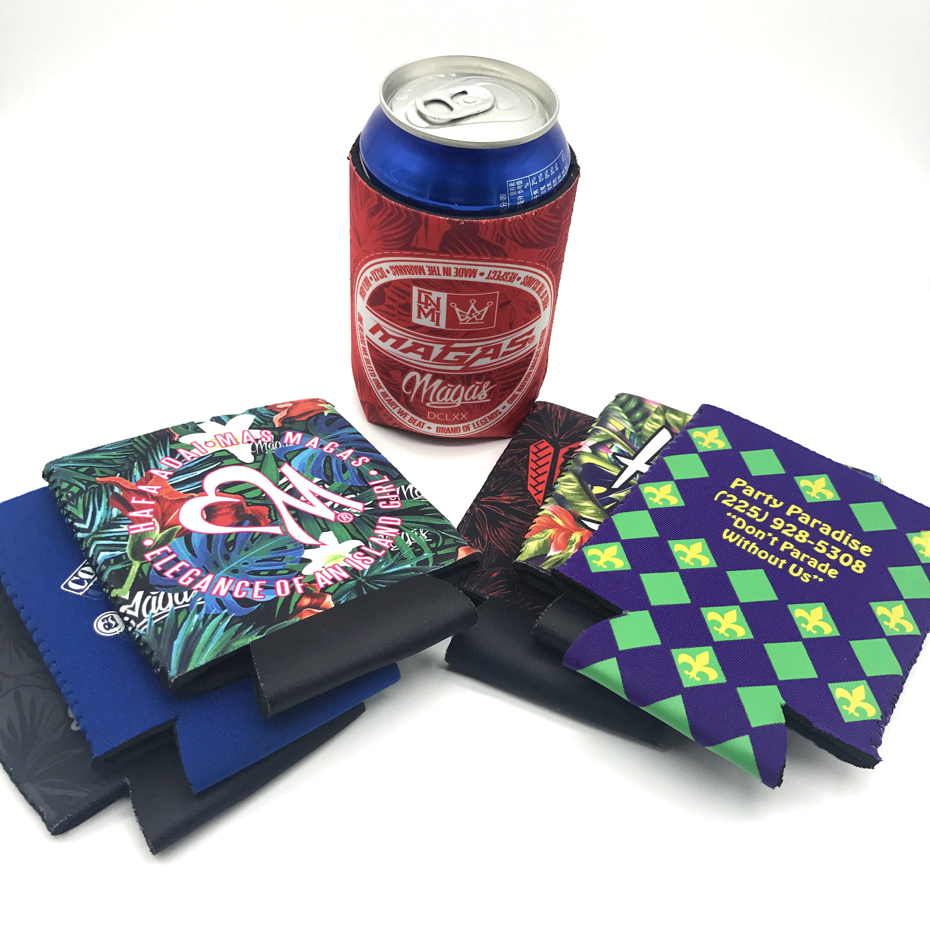 Custom Beer Stubby Holder can cooler sleeve With rubber bottom