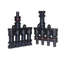 High quality MC4 T- Branch 4 in 1 IP67 male and female DC connector MC4 for solar panels