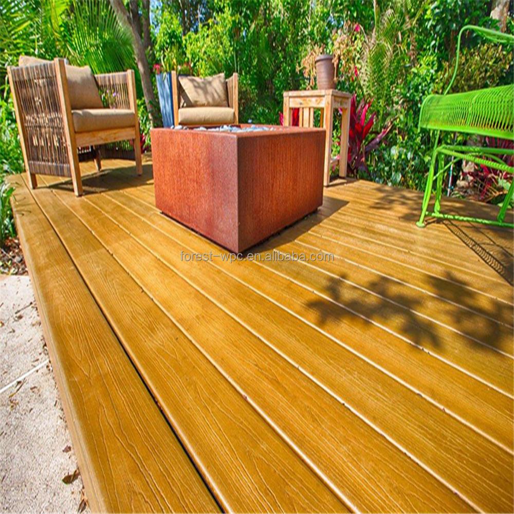Artificial garden path decking timber plastic timber for Plastic garden decking