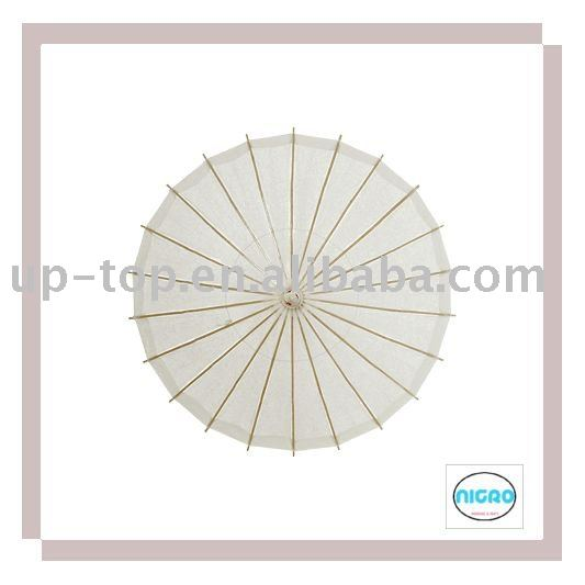 White paper umbrella
