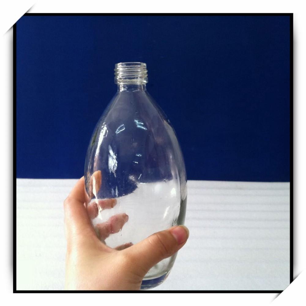 500 ml ovale form glas alkohol schnaps flaschen mit. Black Bedroom Furniture Sets. Home Design Ideas