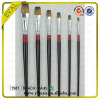 EVAL CF810 Wood Long Handle Camel Falt Artist Painting Brush for Gouache and Watercolor