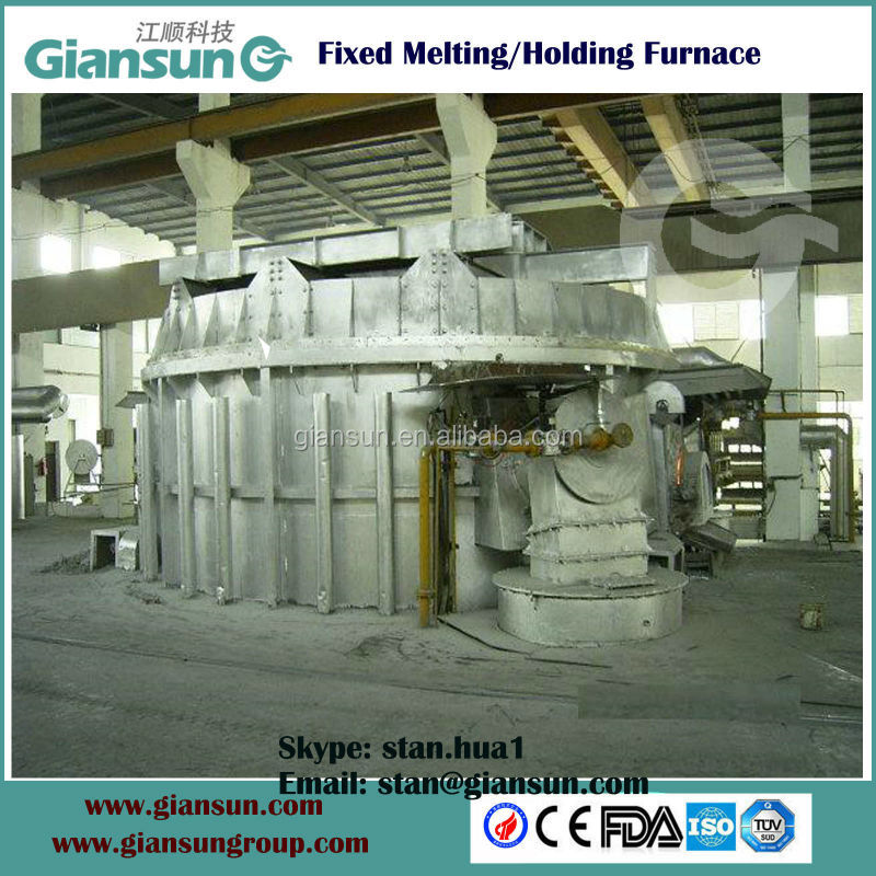 Round melting and holding furnace