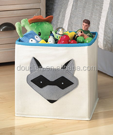 Kid's Collapsible Canvas Storage Cube