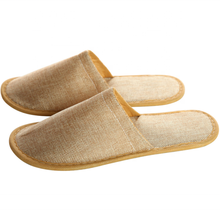 Thick linen fabric indoor shoes bathroom disposable <strong>slippers</strong> for hotel