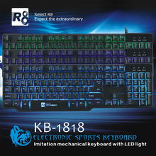 R8 Mechanical USB Keyboard for Gamer,Made IN China Computer Accessories