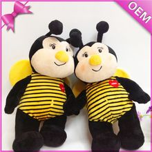 Hot sell cute animal shape toys stuffed bee soft toys