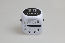 World Converter 2 USB Travel Charger Power Adapter Euro plug to UK plug travel adapter power converter