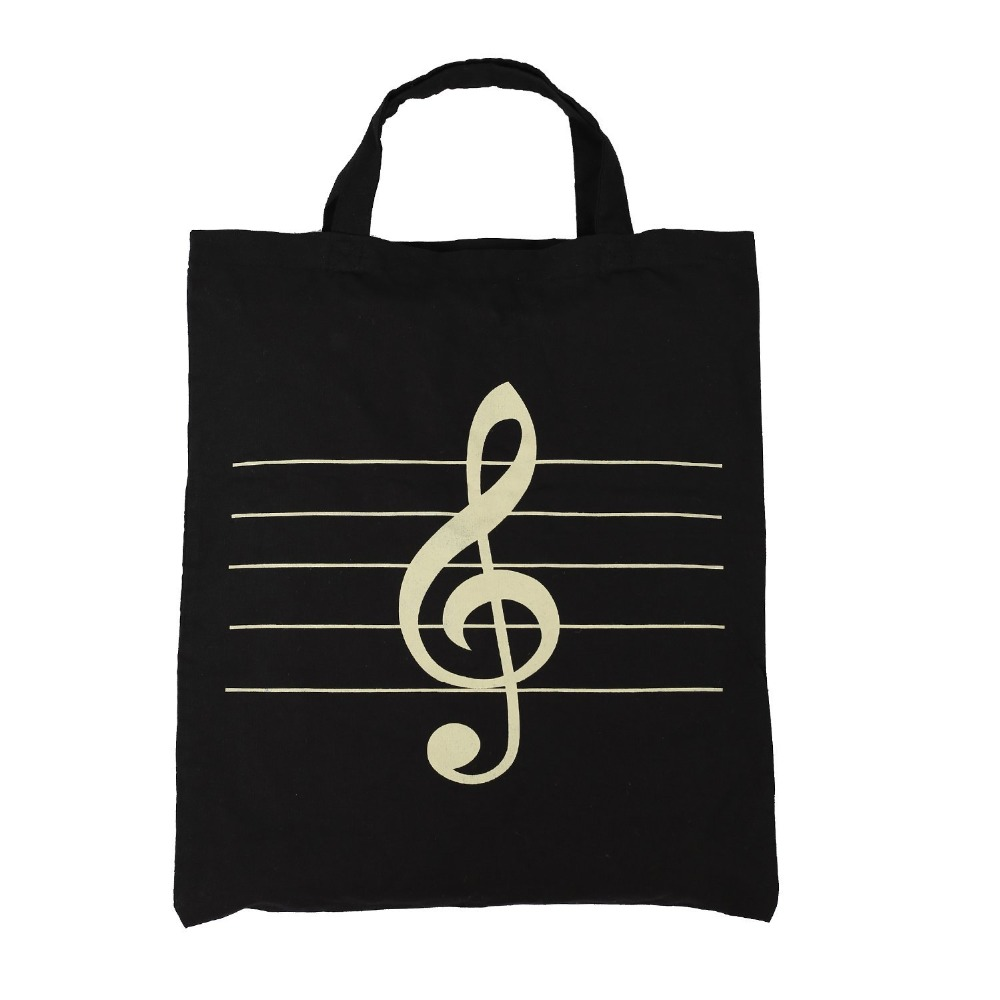 Music Element tote Bag & High notes Pattern Tote Shopping Bag