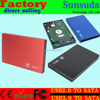 "2.5"" SATA External Hard Disk Drive Enclosure for Laptop HDD USB2.0 TO SATA hard disk box usb3.0 to SATA hard disk aluminum CASE"