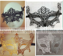 2014 fashion sexy woman metal&cloth lace eye mask