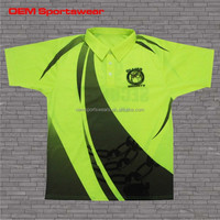 Custom yellow safety hi-vis fluorescent polo shirt