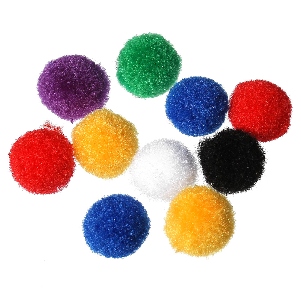 Handmade Decoration DIY Knitting 15.0mm Round Terylene Pom Pom Ball