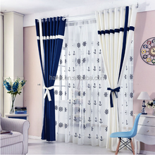 high quality print fabric stitching window blackout curtain