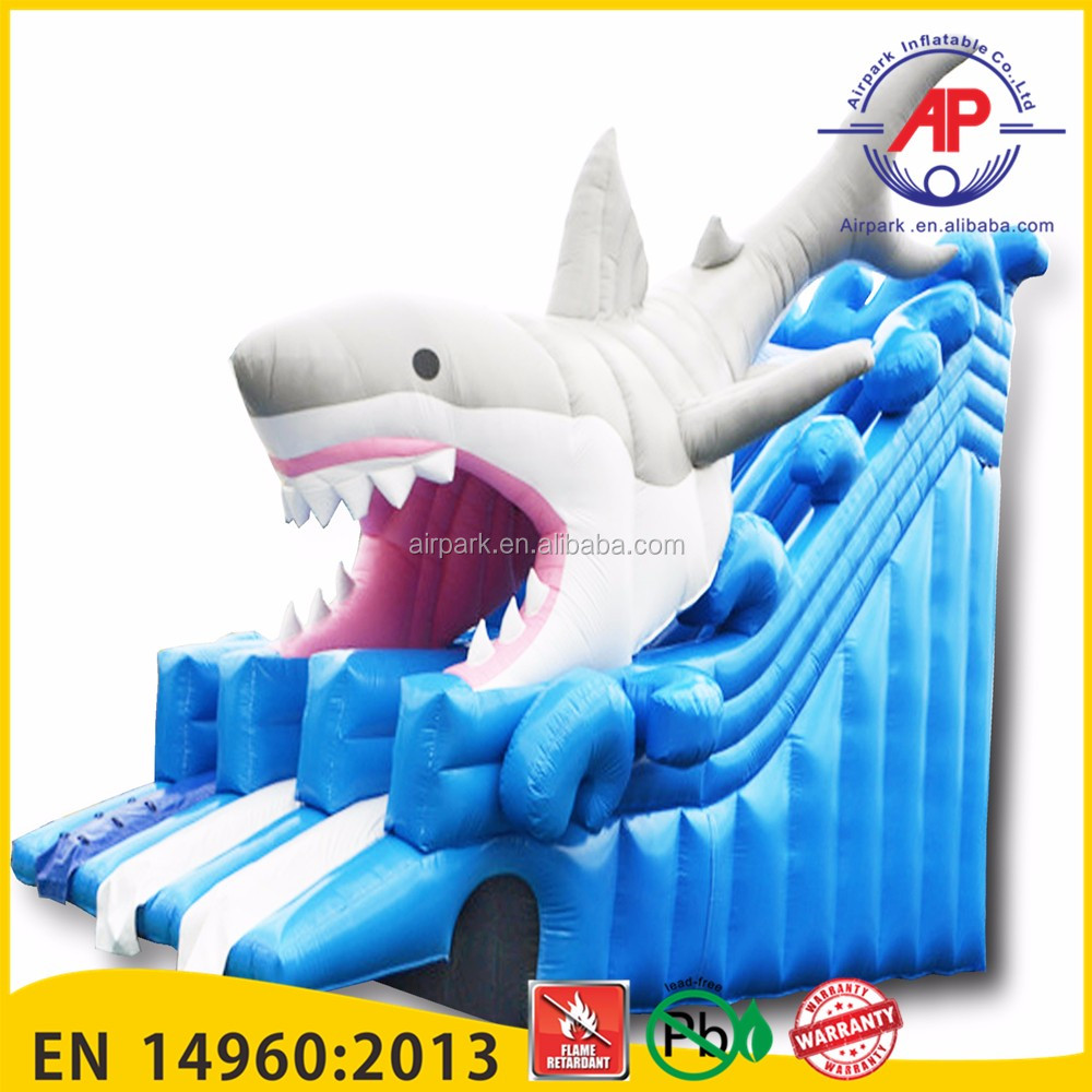 Guangzhou Airpark hot sale commercial inflatable water park on land with pool slide for kids and adults