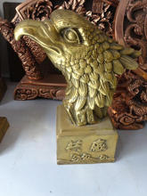 Business gifts brass eagle head bust statue