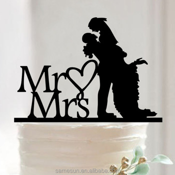 Romantic acrylic cake topper for wedding